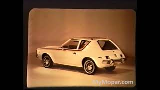 1970 AMC Gremlin Dealer Promo Film