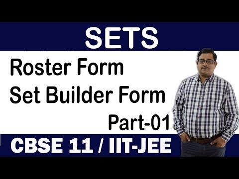 Introduction To SETS   Roster Form & Set Builder Form   PART-1    SETS Class-11 CBSE/JEE
