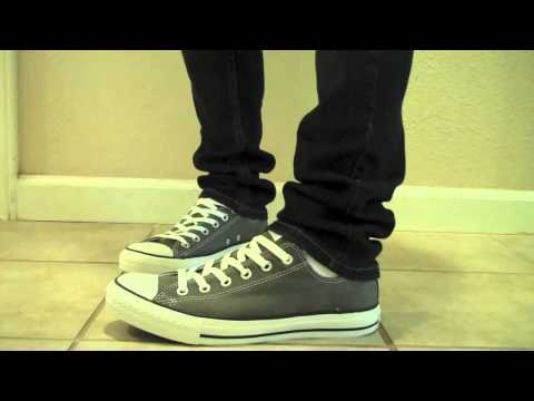 Converse Chuck Taylor All Star Low Charcoal Grey On Feet www.Converse.gr