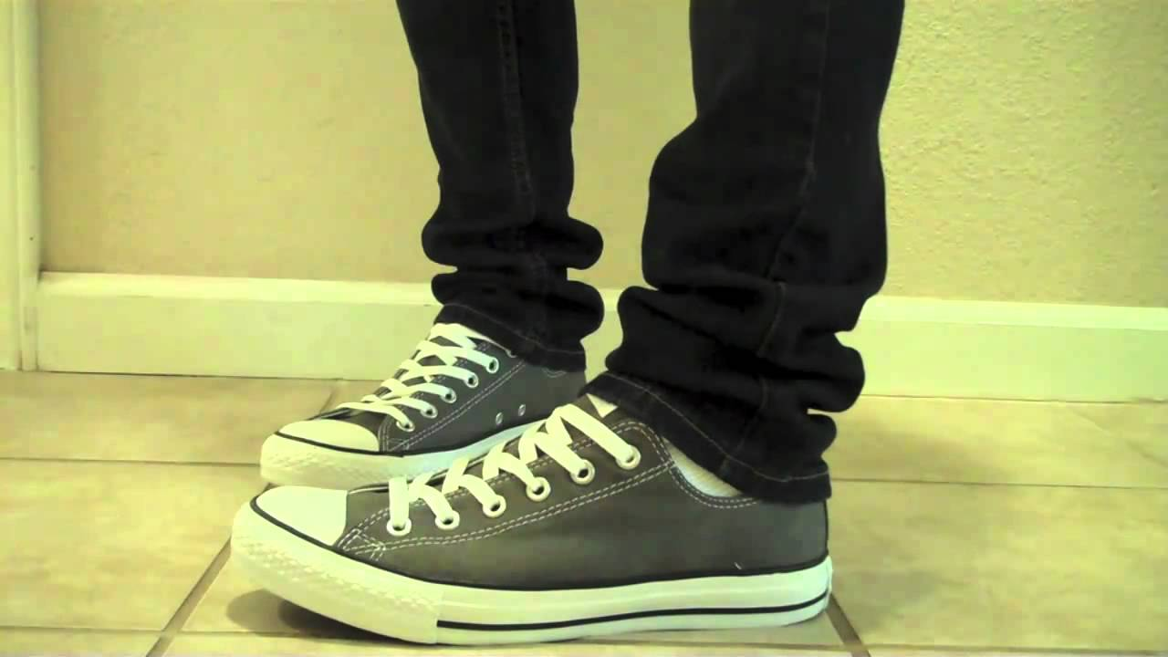78103f00bca646 Converse Chuck Taylor All Star Low Charcoal Grey On Feet www.Converse.gr -  YouTube