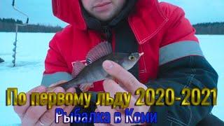 По первому льду 2020 2021 Рыбалка окуня на озере в Республике Коми Первые окуни на мормышку