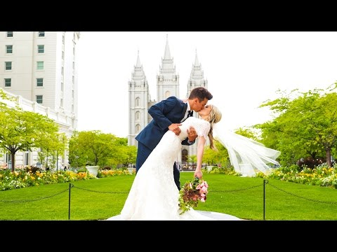Salt Lake Temple Wedding // Taylor + Olivia