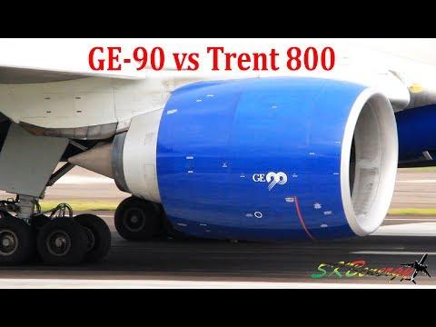 GE-90 vs Trent 800 !!! Epic Showdown Island Style, BA 777-200 @ St. Kitts, Caribbean