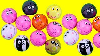 Peppa Pig Wooden Toy Balls with Preschool Kids Toys