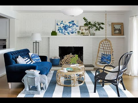 Top 40 Blue Home Design Ideas | Room Decorating Decor DIY Bedroom Bathroom Living Room Tour 2018