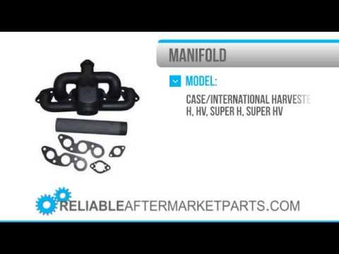 1404 New Farmall IH W4 300 350 Intake & Exhaust Manifold
