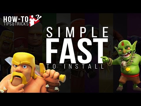 How TO PLAY CLASH OF CLANS On Your PC IN 2017 ?-FAST And SIMPLE To INSTALL & PLAY!