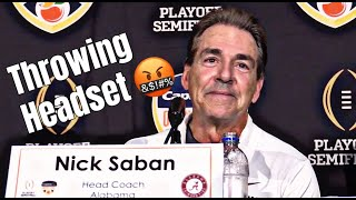 Nick Saban comments on throwing headset during Orange Bowl