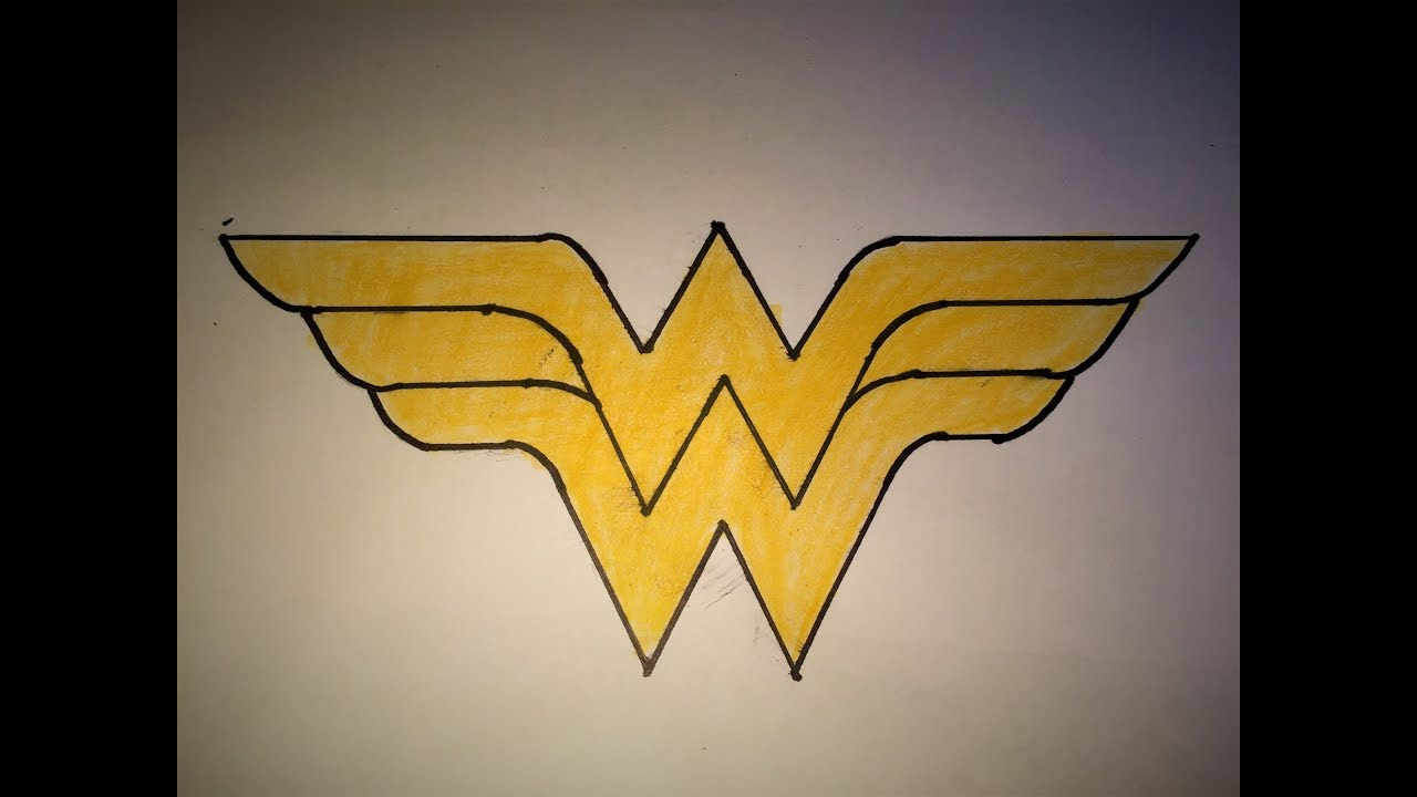 How To Draw The Wonder Women Logo Youtube