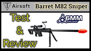 Test and Review M82A1 Airsoft Sniper