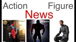 Action Figure News #174 SHF JIREN Mafex BLACK PANTHER SHF YODA Mezco Spiderman & Cyclops & More!!!