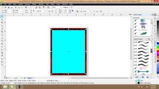 How do I make a picture frame in Corel Draw