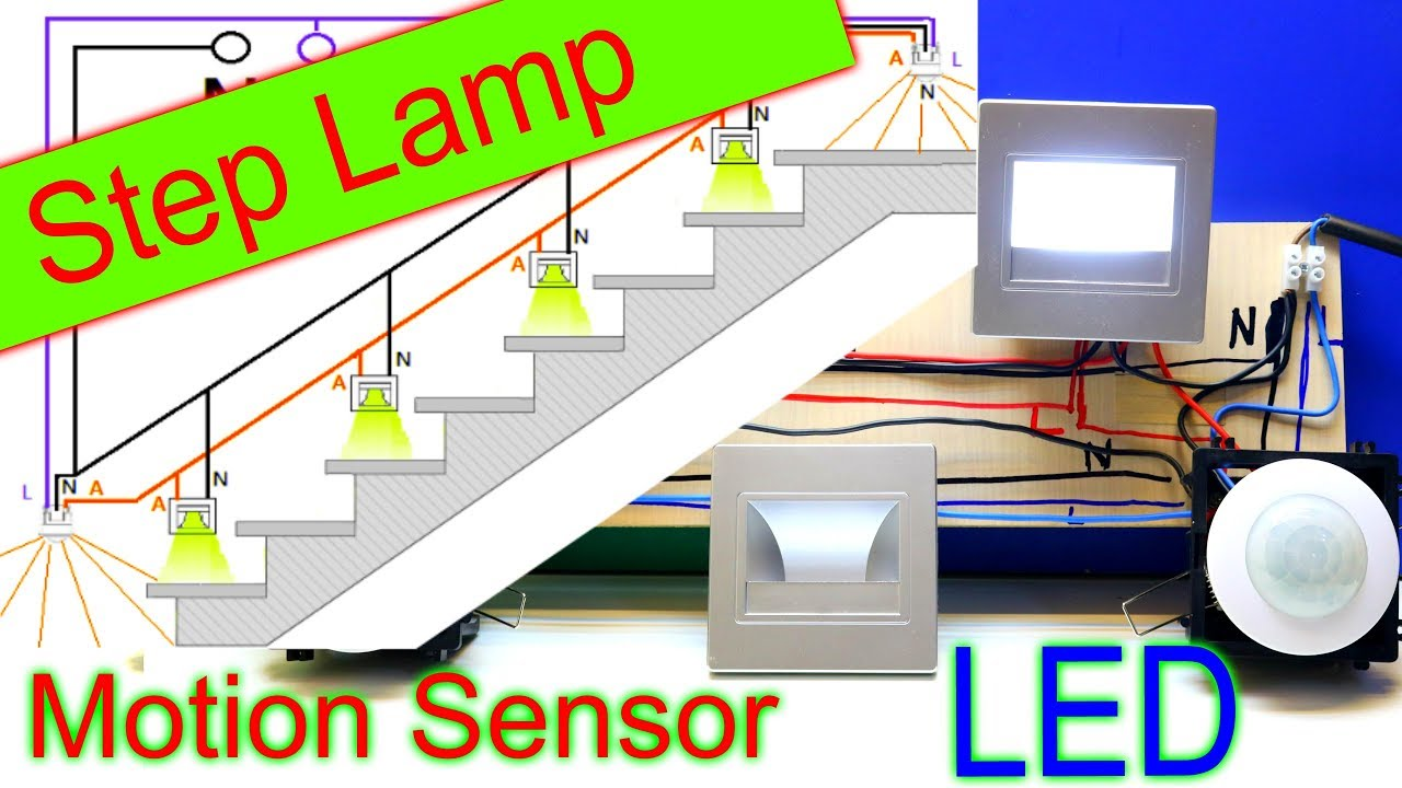 [DIAGRAM_3US]  How to Make Stair LED Lighting with Motion Sensors - YouTube | Indoor Lights Wiring Diagram |  | YouTube