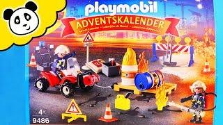 Playmobil Feuerwehr UNBOXING - Der große FEUERWEHR ADVENTSKALENDER - Spielzeug auspacken & spielen