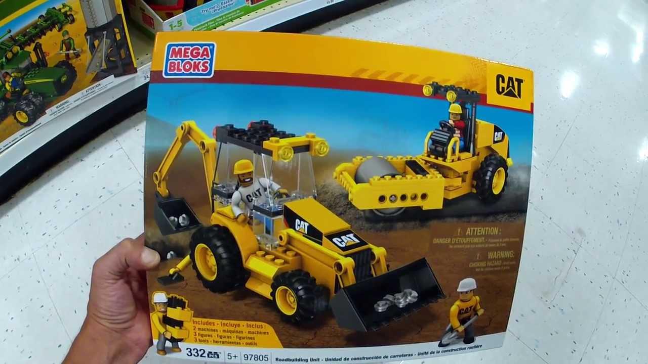 Mega Bloks Cat Construction Set Road Building Unit 97805 Youtube