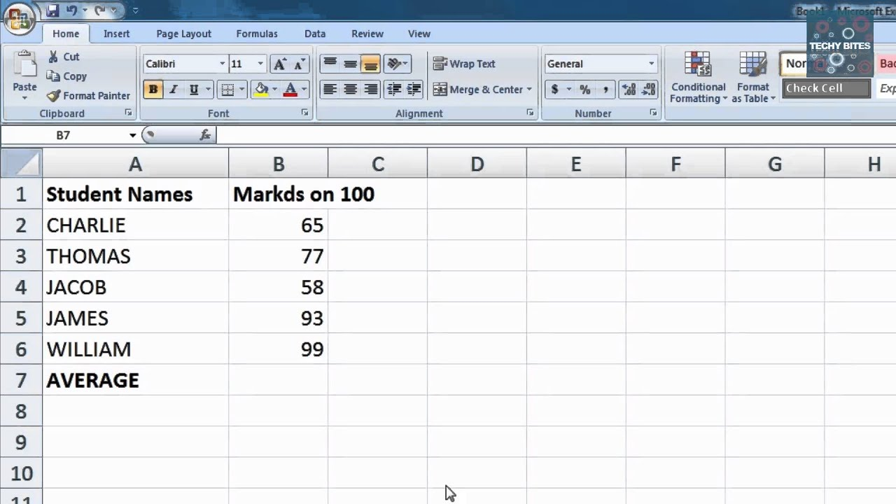 Average Function In Excel | Learn Excel Formulas | Excel Tutorials ...
