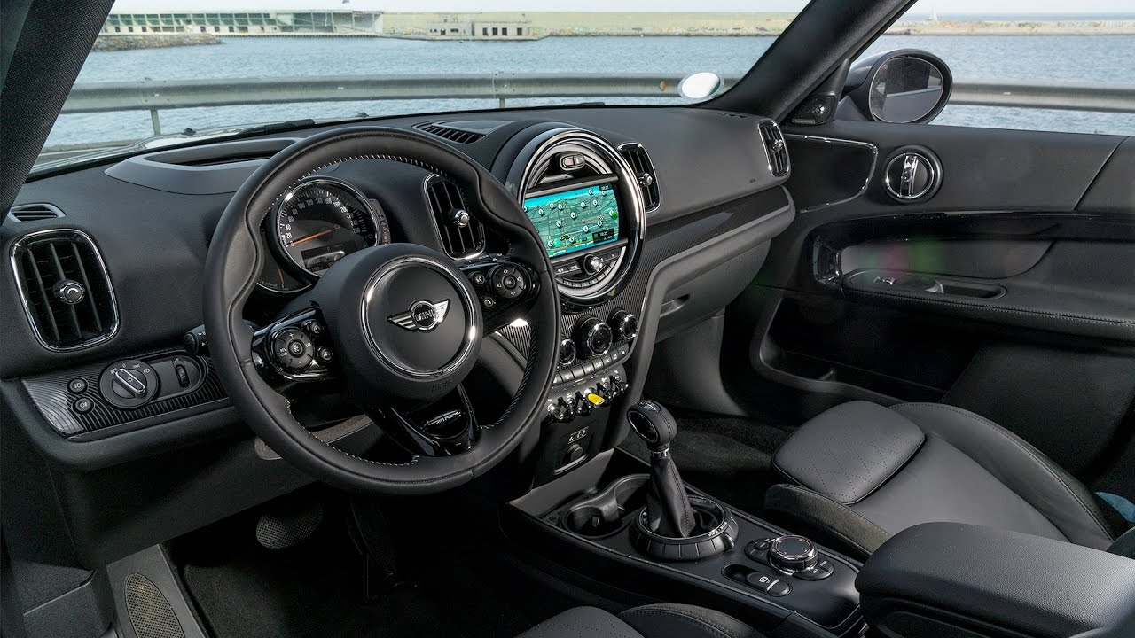 2017 mini countryman cooper s e all4 interior plug in hybrid youtube. Black Bedroom Furniture Sets. Home Design Ideas
