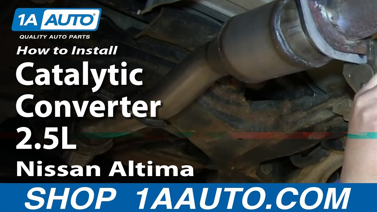 how to install replace front flex pipe catalytic converter 2 5l 2002 06 nissan altima youtube [ 1920 x 1080 Pixel ]