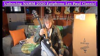 Unboxing 2020 Epiphone Les Paul Classic! NAMM 2020