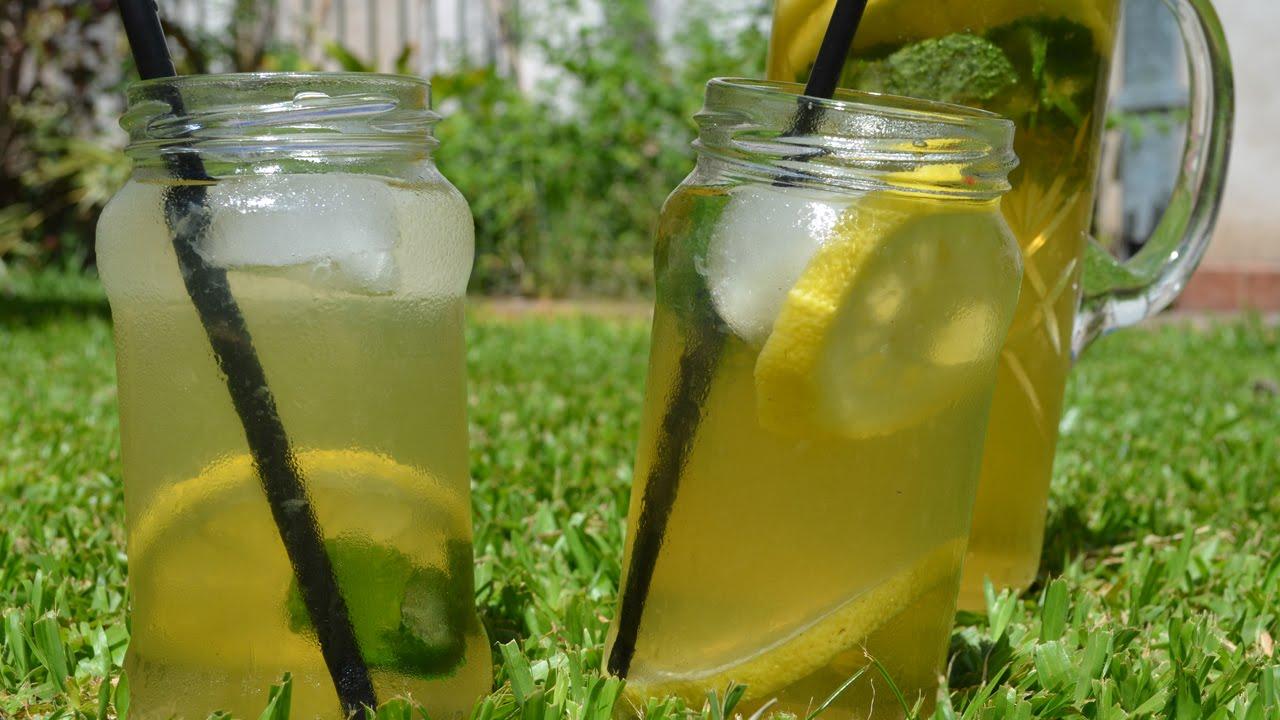 beneficios del te verde frio con limon