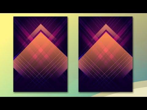 CorelDraw x7 Tutorial - Abstract Portrait Background Design Frist Time in CorelDraw
