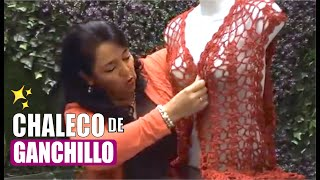 Repeat youtube video TEJIDO CHALECO ROJO (KNITTED VEST WITH ENGLISH SUBTITLES) - Crochet fácil y rápido