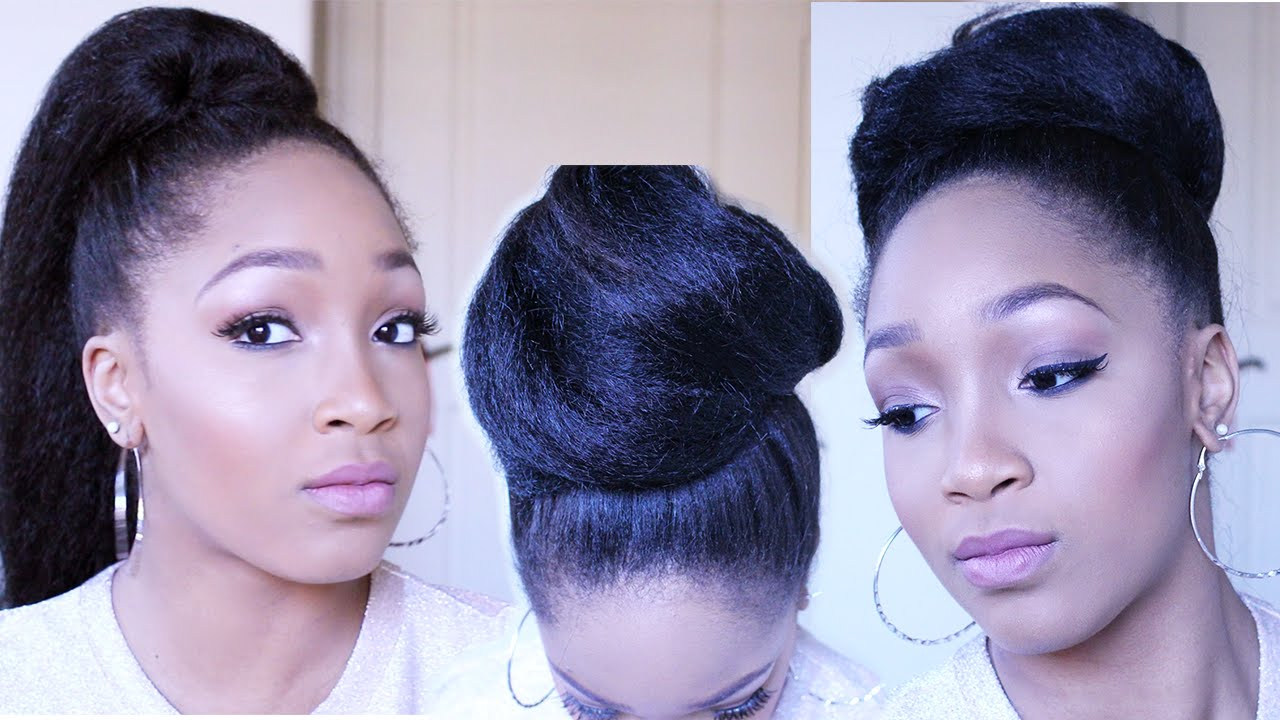 how to make a ponytail with braiding hair