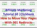 Affiliate Marketing Tutorial 60 | Clickbank | How to Move Your Pages With 301 Redirects
