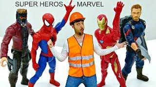 Master Toc-Toc №8 - Déballage des héros de Marvel : Pluie météorique