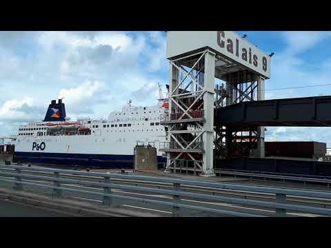 Pride of Kent leaving Calais, & Pride of Burgundy shifting berths.