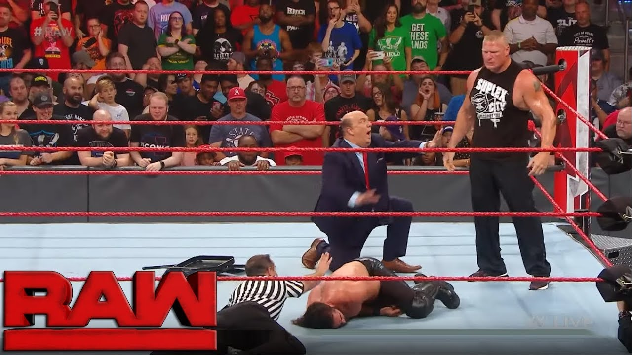 Download Brock Lesnar assaults Seth Rollins - WWE RAW September 30 2019 - WWE RAW 9/30/19