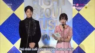 [Vietsub] 170119 Seoul Music Awards - Park Bo Gum x Kim Ji Won trao giải