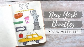 NY DOODLES | Draw With Me | BUJOANDCOOKIES