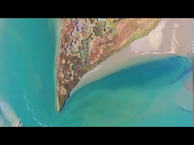 Stunning Drone or Aerial 4K Footage of Cape Cod USA | Turquoise Water Estuary | Surreal Yet So Real