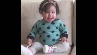 Zeren Naz bıcı bıcı dansı yapıyor, Komik bebek videosu