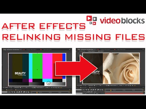 How to Re-link Missing Files in Adobe After Effects