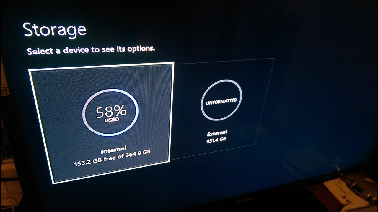 How To Add An External Hard Drive For The Xbox One Youtube