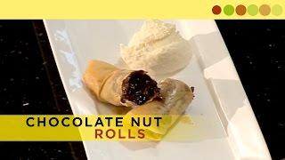 Chocolate Nut Rolls | Dessert Recipe | Chef Atul Kochhar