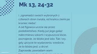 Ewangelia 18 Listopada 2018 Mk 13 24 32