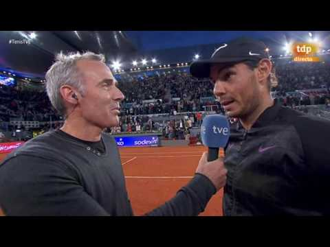 Rafael Nadal On-court Interview / R3 Madrid Open 2017