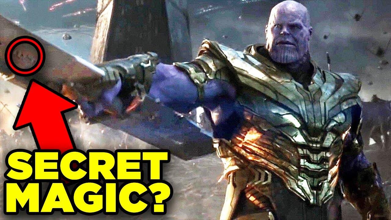 Avengers Endgame THANOS SWORD Secret Power Revealed!   Weapons of Marvel
