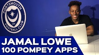 Jamal Lowe reached a milestone 100 Pompey appearances during the re...
