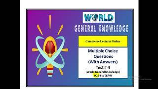 General Knowledge Quiz|| Test # 4|| World GK Test in English screenshot 5