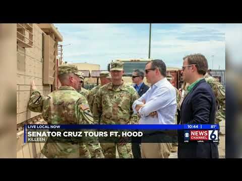 Sen. Cruz Tours Fort Hood - KAUZ - August 12, 2018