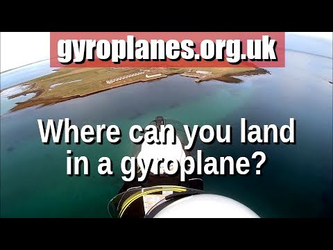 Flight in a gyrocopter/gyroplane across the UK to a tiny Orkney island
