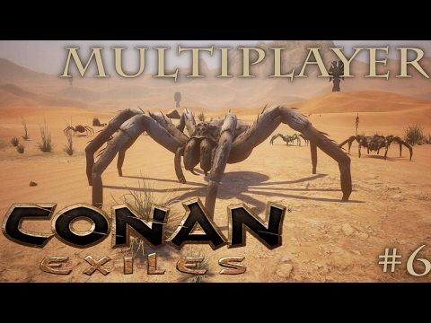CONAN EXILES MULTIPLAYER GAMEPLAY - GIANT SPIDER DEATH CAVE?! - Team DnA #6