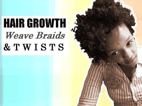 Natural Hair Growth For Black Women | Senegalese Twist & Weave Box Braids | Get Longer Hair