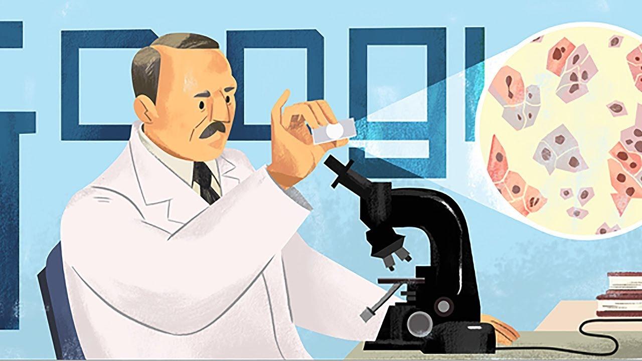 Google Doodle honors Pap smear inventor Georgios Papanikolaou