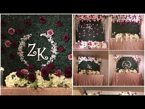 DIY-  Six Boxwood backdrop decor part 2  DIY-floral backdrop  DIY-wedding decor