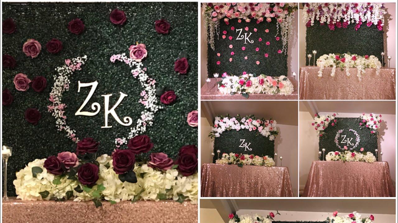 Diy Six Boxwood Backdrop Decor Part 2 Diy Floral Backdrop